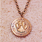 Paw Print Locket Necklace