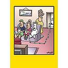 Toilet Straw Humor Birthday Card