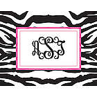 Zebra Design Personalized Notecards