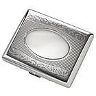 Personalized Double Sided Silver Cigarette Case