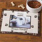 Throw Me a Bone Personalized Photo Dog Bowl Mat