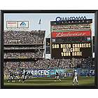 Personalized San Diego Chargers Scoreboard 11x14 Canvas