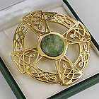 Large Gold Celtic Brooch