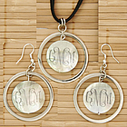 Personalized Shell Pendant and Matching Earrings