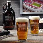 American Heroes Beer Growler and Pint Glasses