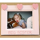 Big Sister Hand Painted Hearts Picture Frame