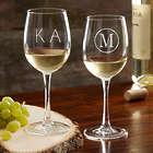Personalized Monogram Classic Celebrations White Wine Glass