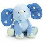 Personalized Blue Elephant Plush Toy