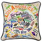 Hand Embroidered Los Angeles Pillow
