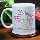 Personalized Sisters Heartstrings Coffee Mug