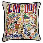 Hand Embroidered London Pillow