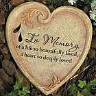 In Memory Heart Garden Stone