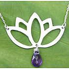 Buddha Lotus Amethyst Flower Necklace