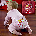 Personalized Elmo Cupid Baby Long Johns