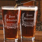 Personalized Brewing Company Design Two Pint Glass Set