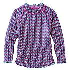 Girl's UPF Long-Sleeve Ruche Swim Shirt