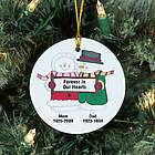 Personalized Forever in Our Hearts Snow Couple Memorial Ornament