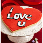 Giant I Love You Heart Sugar Cookie