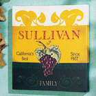 Vintage Wine Label Family Name Canvas