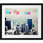 Balloons Over Central Park Framed Art Print
