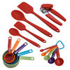 Colourworks 16-Piece Kitchen Tool And Gadget Set in Red