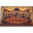"""The Mystical Supper"" Last Supper Icon Mounted Print"