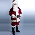 Deluxe Crimson Regency Plush Santa Suit
