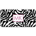 Zebra Monogram License Plate
