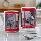4 Custom Photos Large Coffee Mug