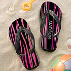 Animal Print Girl's Personalized Flip Flops