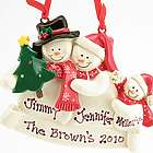 Personalized Snow Family of Three Christmas Ornament