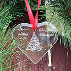 Our First Christmas Personalized Glass Heart Tree Ornament