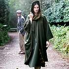 Green Wool Country Walking Cape