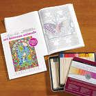 Art Nouveau Animals Mindful Mazes Coloring Book & Colored Pencils