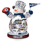 Dallas Cowboys Crystal Snowman with Moving Train