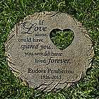 Personalized Memorial Heart Cut-Out Stepping Stone