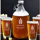 Naturally Brewed Growler and Beer Glass Set
