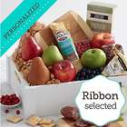 Meat, Cheese, and Snacks Gift Crate with Personalized Ribbon