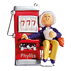Personalized Slot Machine Gambler Ornament