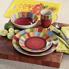 Rainbow Stripe Dinnerware