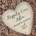 Personalized Small Happily Ever After Heart Garden Stone