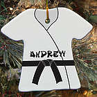 Personalized Ceramic Karate Gi Ornament