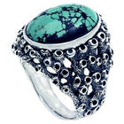 Men's Living Coral Turquoise Ring