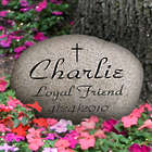 Personalized Large Engraved Natural River Rock Memorial