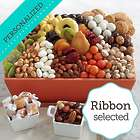 Signature Nuts, Sweets & Snacks Gift Box with Personalized Ribbon
