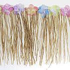 Floral Natural Raffia Fringe Decoration