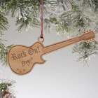 Rock On Personalized Guitar Ornament