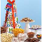 Big Happy Birthday Sweets and Snacks Gift Tower