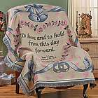 Personalized Wedding Bells Throw