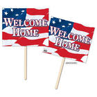 Welcome Home American Flag Double Sided Yard Signs